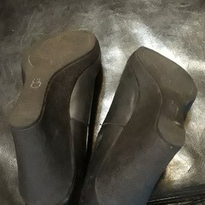 UGG Shoes - Uggz Australia meredith  black wedge leather shoes